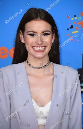 Stock Picture of Kirrilee Berger arrives at the Kids' Choice Awards at The Forum, in Inglewood, Calif