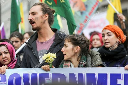 a5f28c1cd5 Anna Campbells family. Demonstration against Turkish forces and jihadists  and the invasion of the predominantly