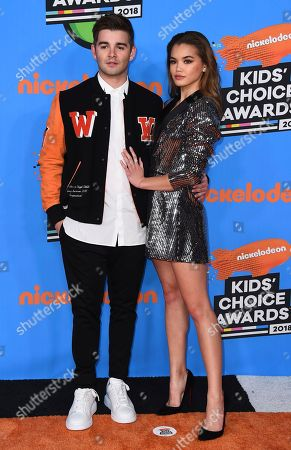 Jack Griffo, Paris Berelc. Jack Griffo, left, and Paris Berelc arrive at the Kids' Choice Awards at The Forum, in Inglewood, Calif