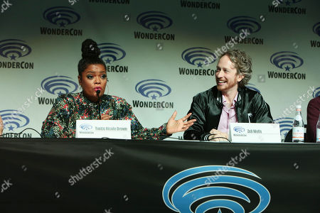 Yvette Nicole Brown and Writer/Director/Creator/Exec. Producer Zeb Wells