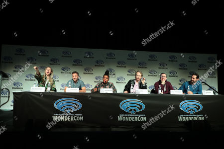 Heidi Gardner, Breckin Meyer, Yvette Nicole Brown, Writer/Director/Creator/Exec. Producer Zeb Wells, Writer/Creator/Exec. Producer Matthew Senreich and Director Nick Simotas