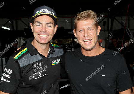 Craig Lowndes and Mick Fanning