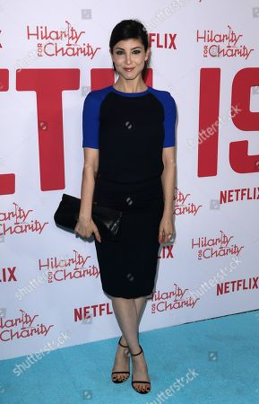 Briana Cuoco arrives at the 6th Annual Hilarity For Charity Los Angeles Variety Show at the Hollywood Palladium, in Los Angeles