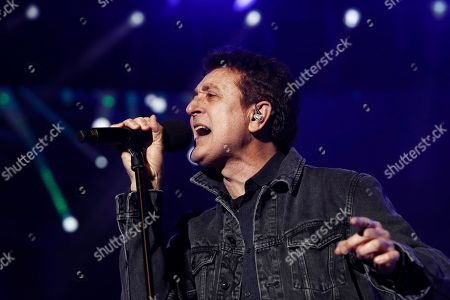 Spanish singer Manolo Garcia performs during La Noche de Cadena 100 (The Nights of Cadena 100 radio station) charity concert at the Wizink Center in Madrid. The funds raised in the concert will go to Manos Unidas NGO.