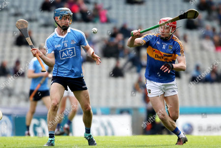 Dublin vs Tipperary . Dublin's Rian McBride and Billy McCarthy of Tipperary