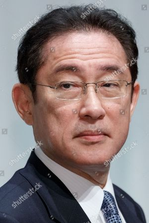 Fumio Kishida policy chief of Japan's ruling Liberal Democratic Party (LDP) attends the party's 85th national convention
