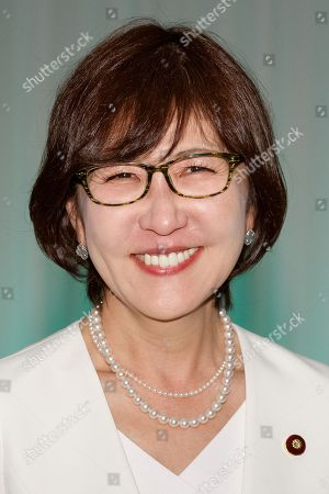 Former Defense Minister Tomomi Inada attends the 85th Liberal Democratic Party's national convention