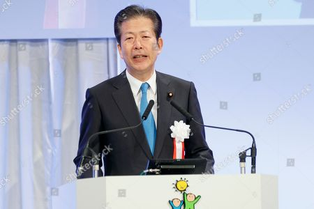 Natsuo Yamaguchi leader of the New Komeito Party speaks during the 85th Liberal Democratic Party's national convention