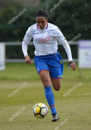Mary Robinson of Crystal Palace Ladies during The Women's Premier League South match between Portsmouth Ladies v Crystal Palace Ladies on March 25th 2018 at The Sportsground, Littlehampton, West Sussex, England. (Photo by Gareth Davies/PPAUK)