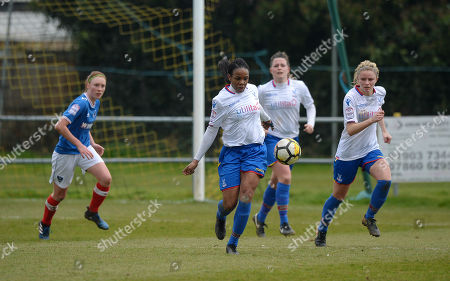 Mary Robinson of Crystal Palace Ladies in action during The Women's Premier League South match between Portsmouth Ladies v Crystal Palace Ladies on March 25th 2018 at The Sportsground, Littlehampton, West Sussex, England. (Photo by Gareth Davies/PPAUK)