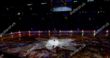 Carolina Kostner of Italy performs during the gala exhibition, at the Figure Skating World Championships in Assago, near Milan, Italy