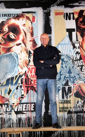 Irvine Welsh before an event at Leith's Biscuit Factory to introduce his new novel Dead Men's Trousers.