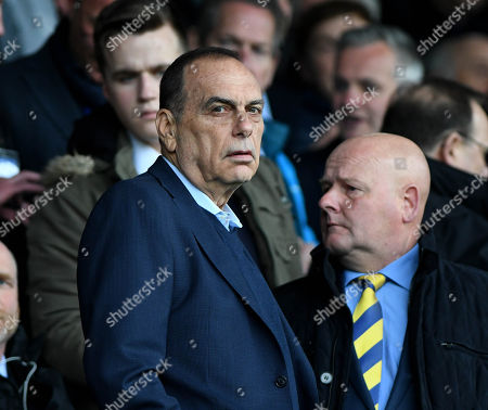 Avram Grant, the ex Portsmouth manager takes his seat in the stand , during the EFL Sky Bet League One match between Portsmouth and Oxford United, at Fratton Park on 25th March 2018.