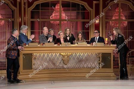 Stock Photo of Paolo Belli, Ivan Zazzaroni, Fabio Canino, Sandro Mayer, Carolyn Smith, Roberta Bruzzone, Selvaggia Lucarelli, Guillermo Mariotto