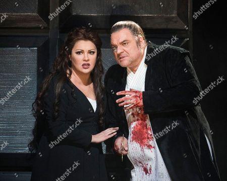Stock Image of Zeljko Lucic as Macbeth, Anna Netrebko as Lady Macbeth