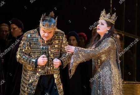 Editorial photo of 'Macbeth' Opera performed at the Royal Opera House, London, UK, 22 Mar 2018