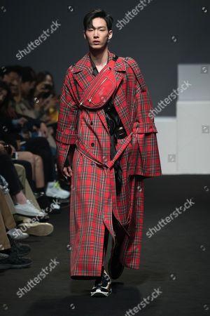 Editorial image of Munsoo Kwon show, Runway, Fall Winter 2018, Hera Seoul Fashion Week, South Korea - 24 Mar 2018