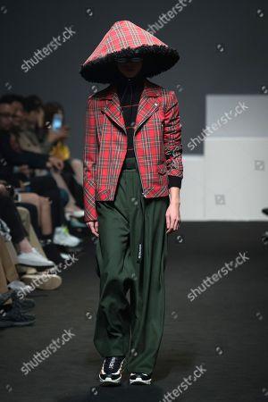 Editorial picture of Munsoo Kwon show, Runway, Fall Winter 2018, Hera Seoul Fashion Week, South Korea - 24 Mar 2018