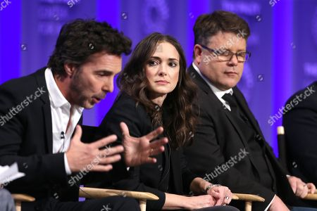 Stock Photo of Shawn Levy, Winona Ryder and Sean Astin
