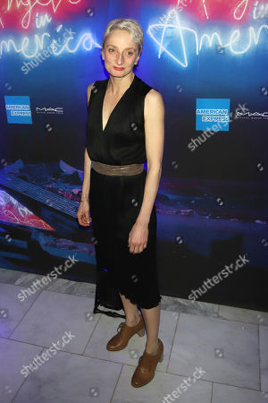 """Amanda Lawrence attends the after party for the """"Angels in America"""" Broadway revival opening night at Espace, in New York"""
