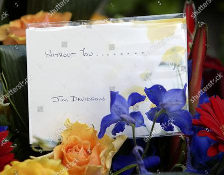 Flowers from Jim Davidson