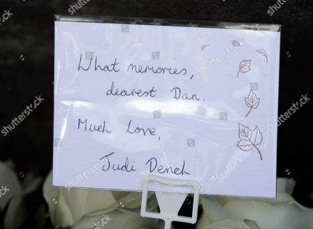 Flowers from Judi Dench