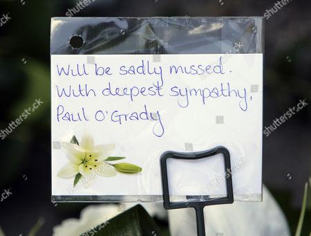Flowers from Paul O'Grady