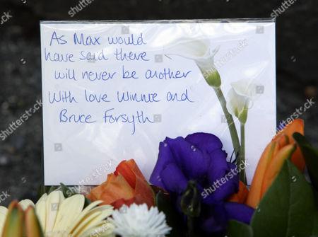 Flowers from Bruce Forsyth