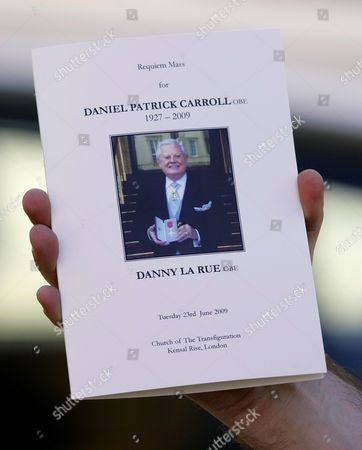 Order of service for Danny La Rue's funeral