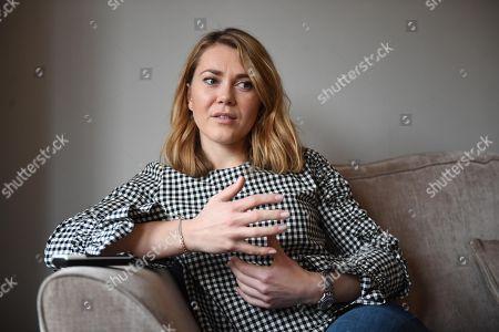 Stock Photo of Jess Varnish Interview. British Track Cyclist.