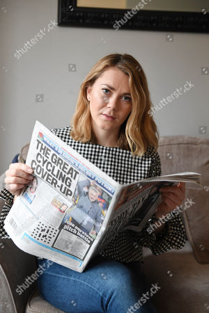 Editorial image of Jess Varnish Interview. British Track Cyclist. Pic Andy Hooper/daily Mail.