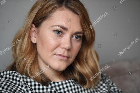 Stock Image of Jess Varnish Interview. British Track Cyclist.
