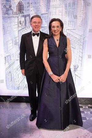 Stock Image of Alberto Repossi and Giovanna Repossi
