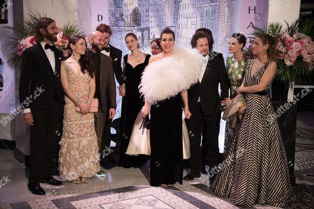John Nollet, Guests, Pierre Casiraghi, Beatrice Casiraghi, Princess Alexandra of Hanover, Charlotte Casiraghi, Dimitri Rassam, a guest, Juliette Dol and a guest