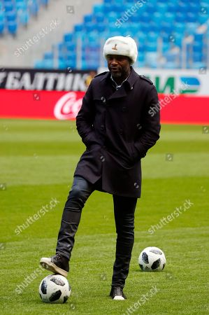 Former France's defender William Gallas poses before Russia's soccer team training session at Saint-Petersburg stadium in St. Petersburg, Russia, 26 March 2018. The 2006 FIFA World Cup runner-up and former France, Chelsea, Arsenal and Tottenham Hotspur defender William Gallas arrived to Saint Petersburg to support his national soccer team. Russia will face France in their International Friendly soccer match on 27 March.