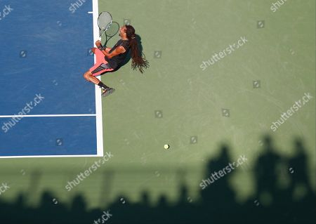 Dustin Brown, of Germany, reacts after defeating Thomaz Bellucci, of Brazil, during the first round of the U.S. Open tennis tournament, in New York