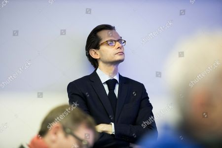 Stock Image of Deputy of right party Les Republicains Guillaume Larrive