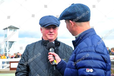 Trainer Colin Tizzard speaks to Luke Harvey about Gold Cup Winner, Native River. - RACE 2 - 2:50 Taunton - 26 Mar 2018 - Chetwood Wealth Management Handicap Hurdle (Class 4) at Taunton Racecourse, Taunton, Somerset, England
