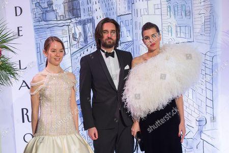 Princess Alexandra de Hanovre, Charlotte Casiraghi and Dimitri Rassam