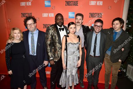 Carole Rothman, Kenneth Lonergan, Brian Tyree Henry, Bel Powley, Chris Evans, Trip Cullman and Michael Cera