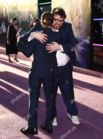 "Seth Green, Ernest Cline. Seth Green, left, hugs Ernest Cline as they arrive at the world premiere of ""Ready Player One"" at the Dolby Theatre, in Los Angeles"
