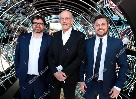 Stock Photo of Ernest Cline, Author, Christopher Lloyd, Dan Farah, Producer