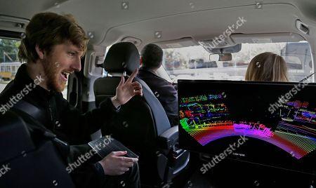 Editorial image of Autos Cutting Edge Safety, San Francisco, USA - 10 Apr 2017