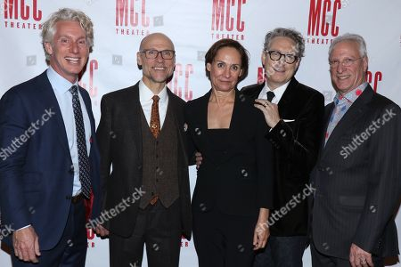 Blake West, William Cantler, Laurie Metcalf, Bernard Telsey and Robert LuPone