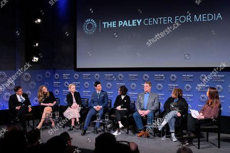 Tom Werner, Sarah Chalke, Lecy Goranson, Michael Fishburn, Sara Gilbert, John Goodman, Roseanne Barr and Kristen Baldwin