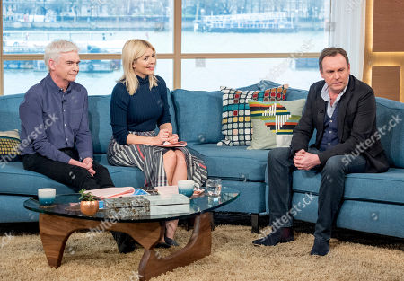 Stock Image of Phillip Schofield and Holly Willoughby with Philip Glenister