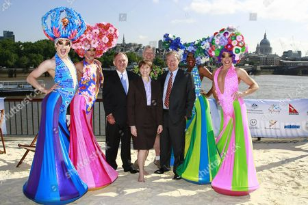 Cast of Priscilla the Musical with John Dauth, Kylie Hargreaves and Phil Aiken