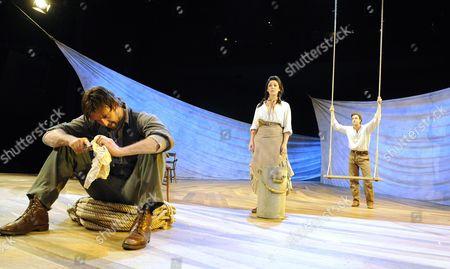 'Oklahoma!' - Craige Els (Jud), Leila Benn Harris (Laurey) and  Michael Xavier (Curley)
