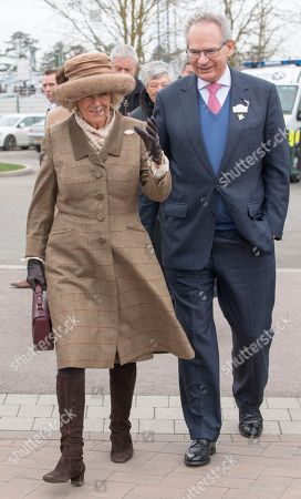 Stock Photo of Camilla Duchess of Cornwall with Robert Waley-Cohen at the Cheltenham Festival