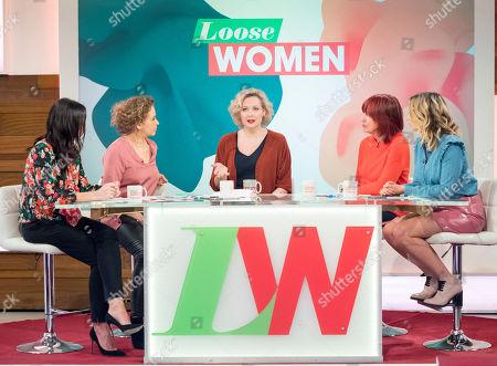 Christine Lampard, Nadia Sawalha, Sara Stewart, Janet Street-Porter and Stacey Solomon